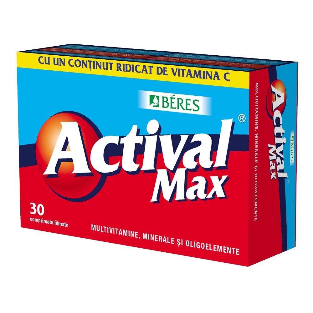 Actival Max, 30 comprimate, Beres Pharmaceuticals Co