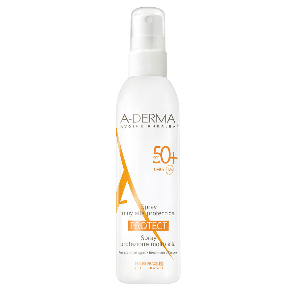 Spray pentru piele sensibilă cu SPF 50+, 200 ml, A-Derma Protect