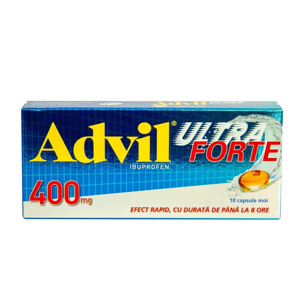 Advil Ultra Forte 400mg, 10 capsule, Gsk
