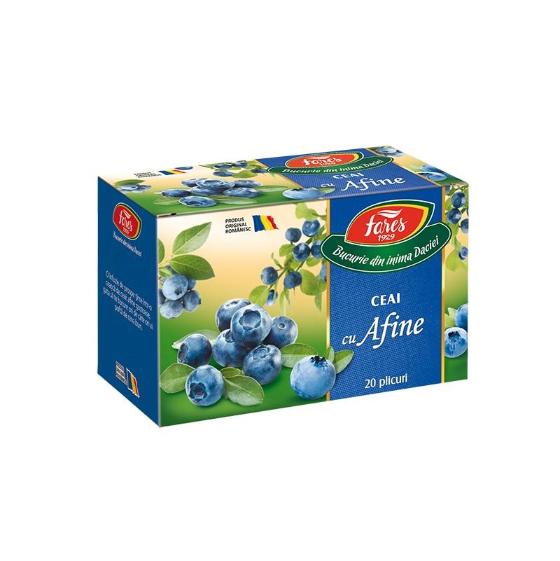 Ceai de Afine Aromfruct, 20 plicuri, Fares