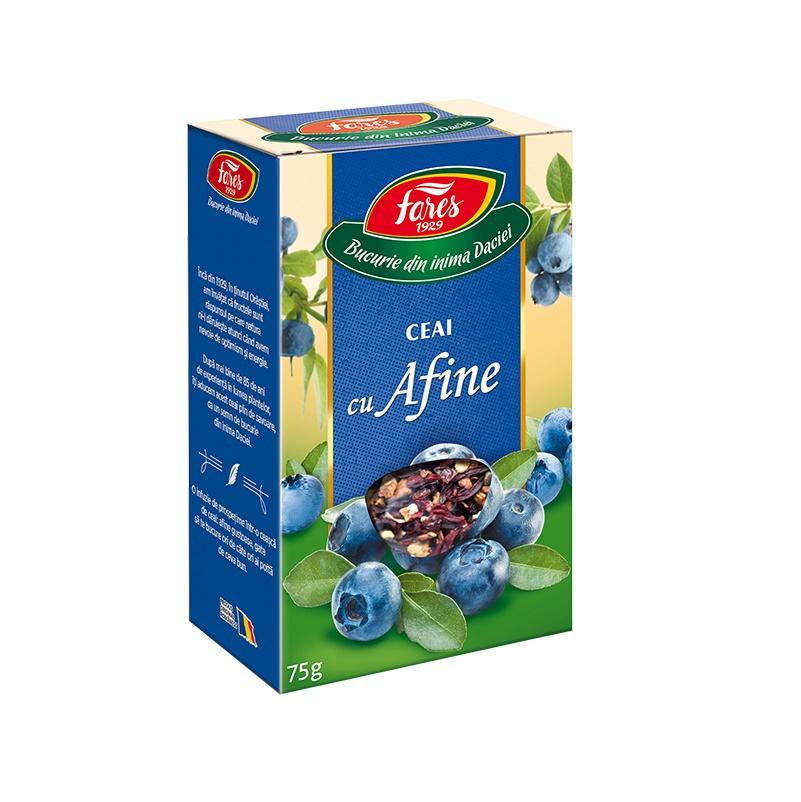 Ceai cu afine Aromfruct, 75 g, Fares