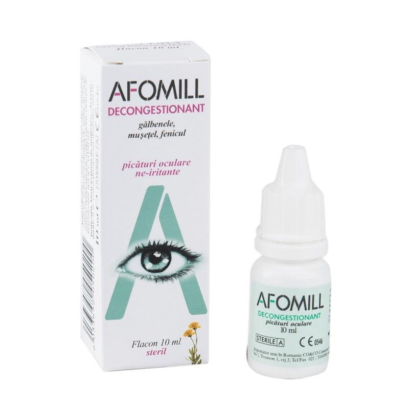 Picături oculare decongestionante Afomill, 10 ml, Af United