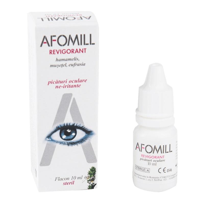 Picături oculare revigorante Afomill, 10 ml, Af United