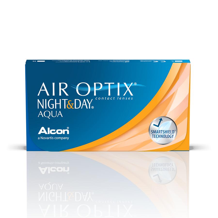 Lentile de contact Air Optix Night&Day Aqua, -0.50, 6 bucăți, Alcon