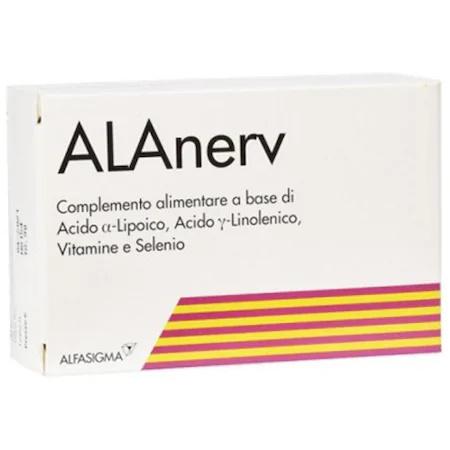 Alanerv, supliment alimentar pentru sistemului nervos, 20 capsule moi, Alfa Wassermann