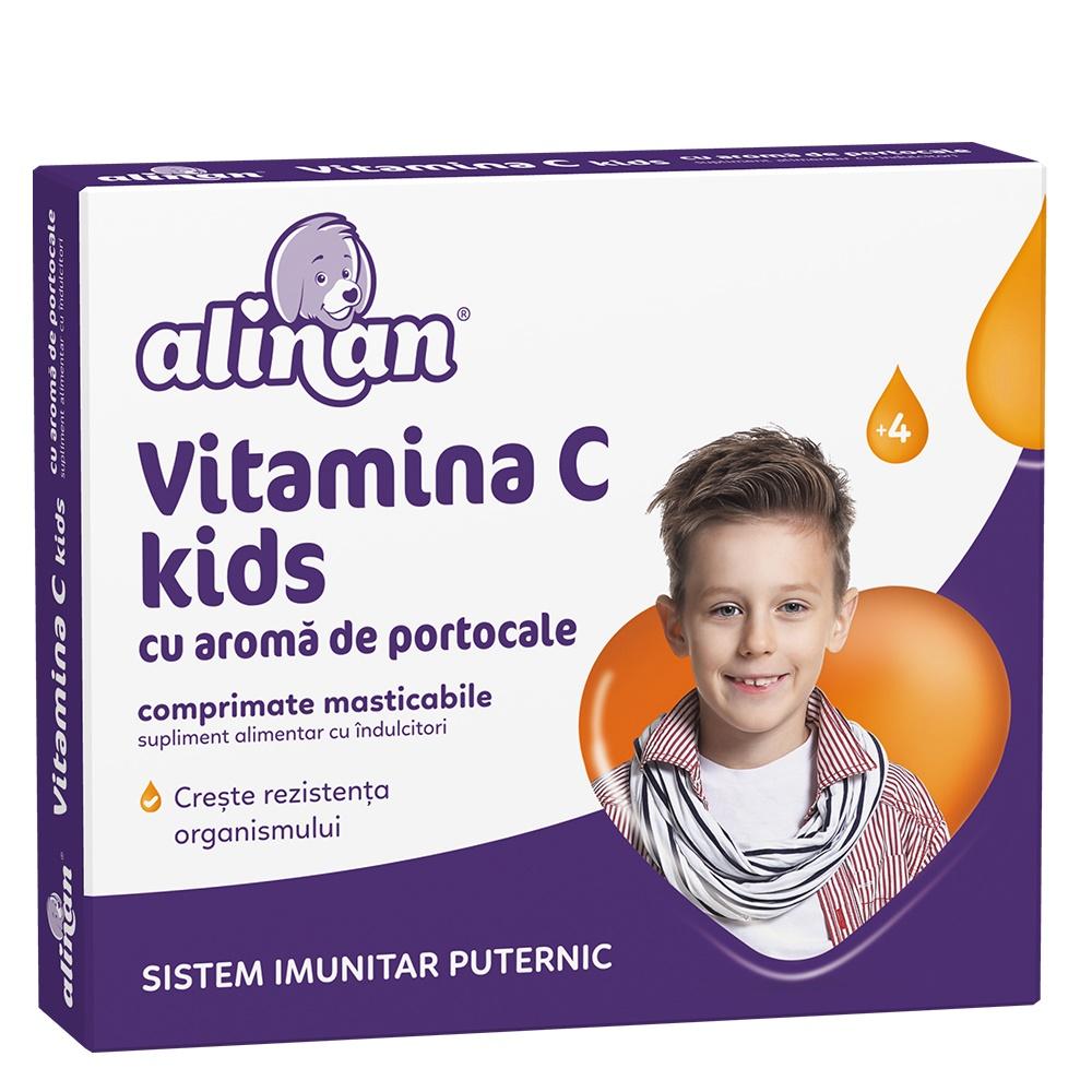 Vitamina C cu aromă de portocale pentru copii Alinan, 20 comprimate, Fiterman Pharma