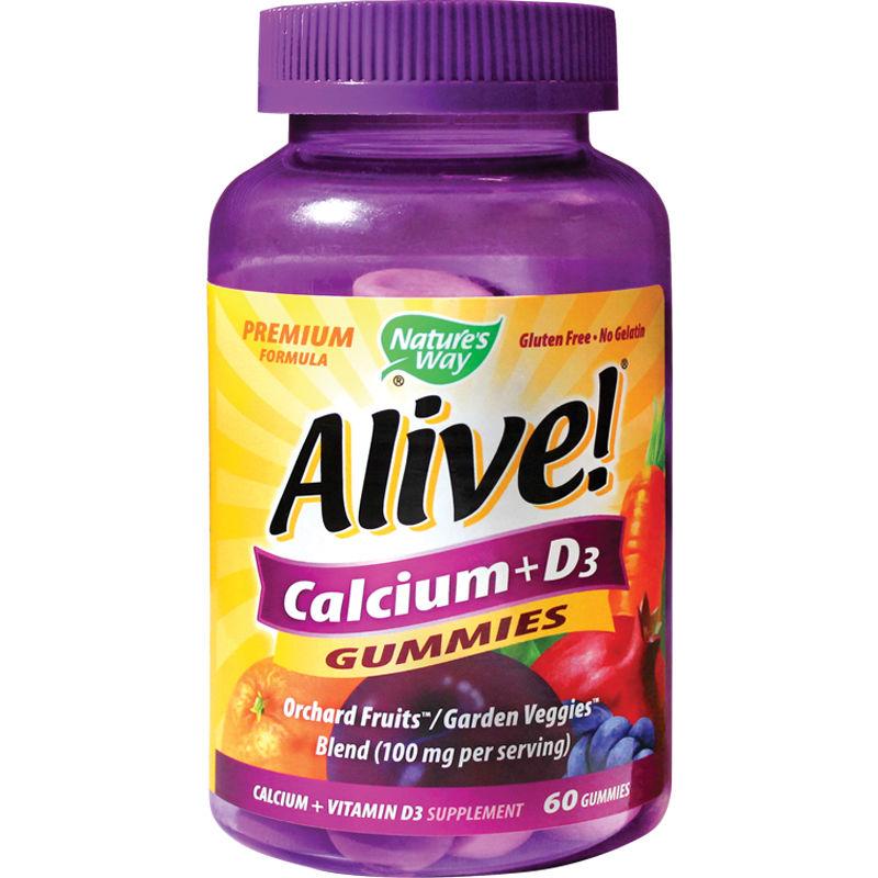 Alive Calcium + D3 Gummies Nature's Way, 60 jeleuri gumate, Secom