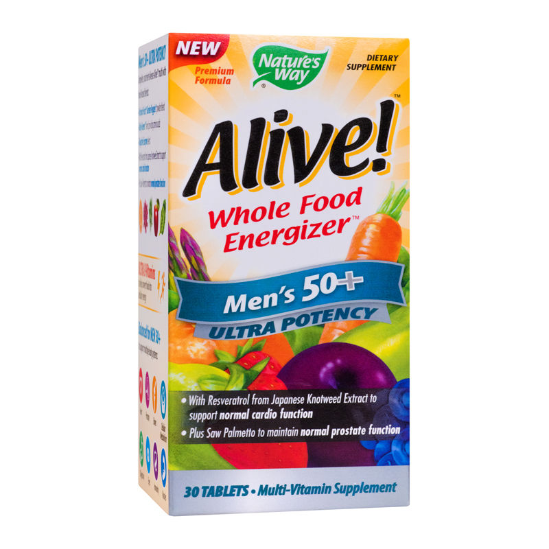 Alive Once Daily Mens 50+ Ultra Nature's Way, 30 tablete, Secom