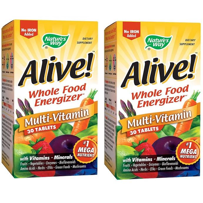 Pachet Alive Nature's Way, 30 tablete + 30 tablete, Secom