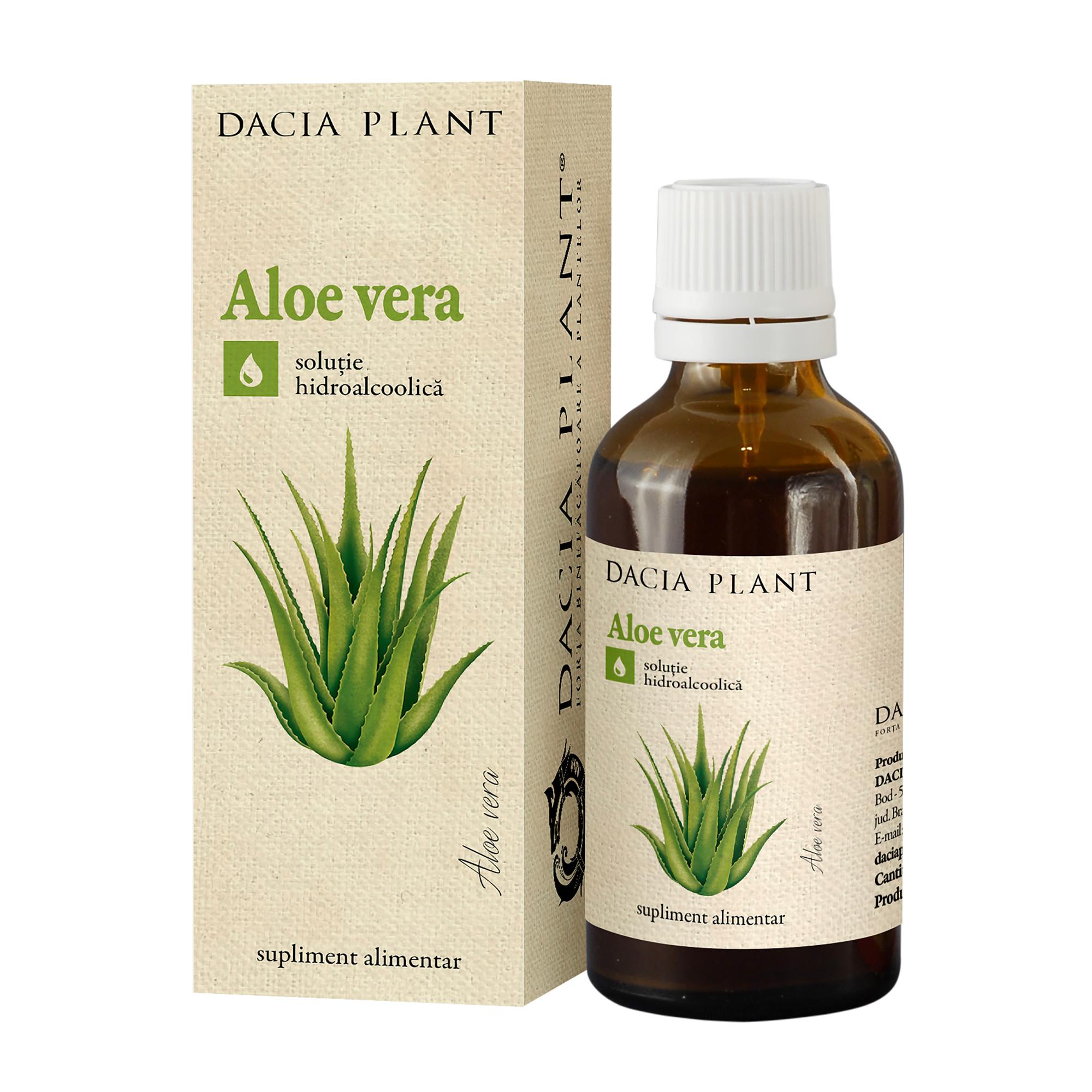 Tinctură de Aloe, 50 ml, Dacia Plant