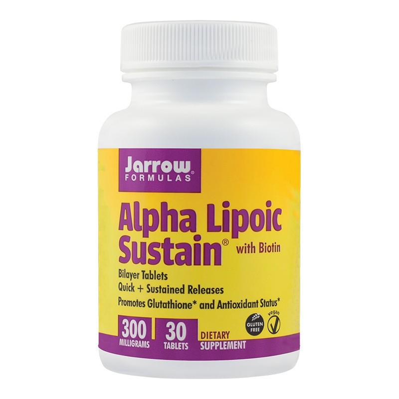 Alpha Lipolic Sustain 300mg Jarrow Formulas, 30 tablete, Secom