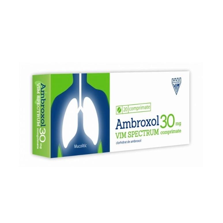 Ambroxol 30 mg, 20 comprimate, Vim Spectrum