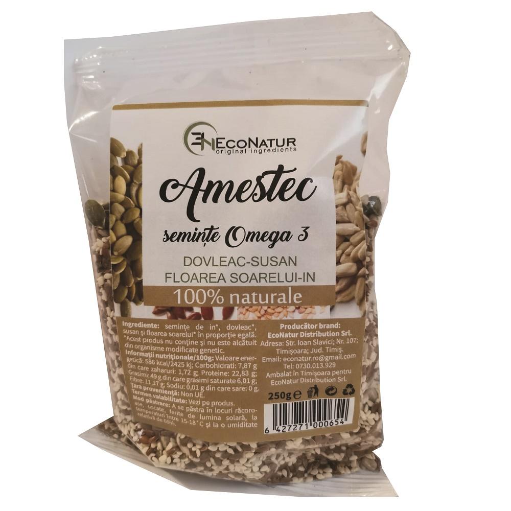Amestec semințe bogate în Omega 3, 250g, EcoNatur
