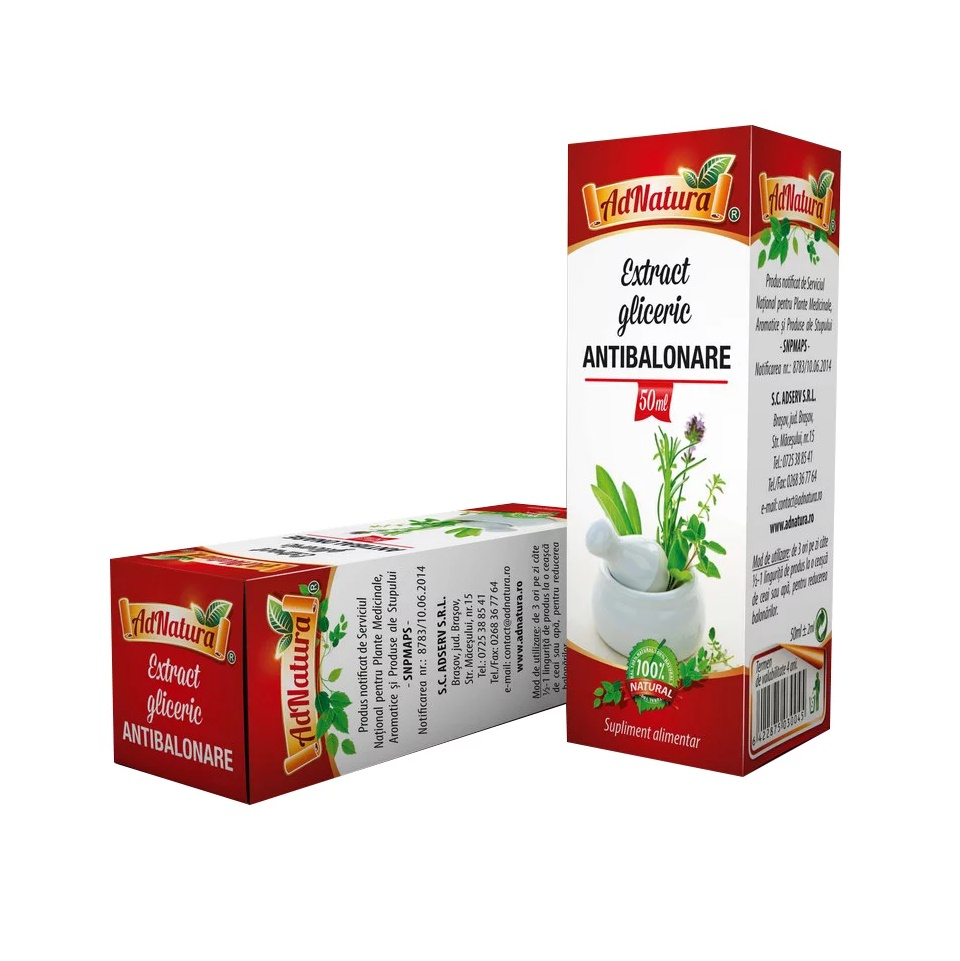 Antibalonare extract gliceric, 50 ml, AdNatura
