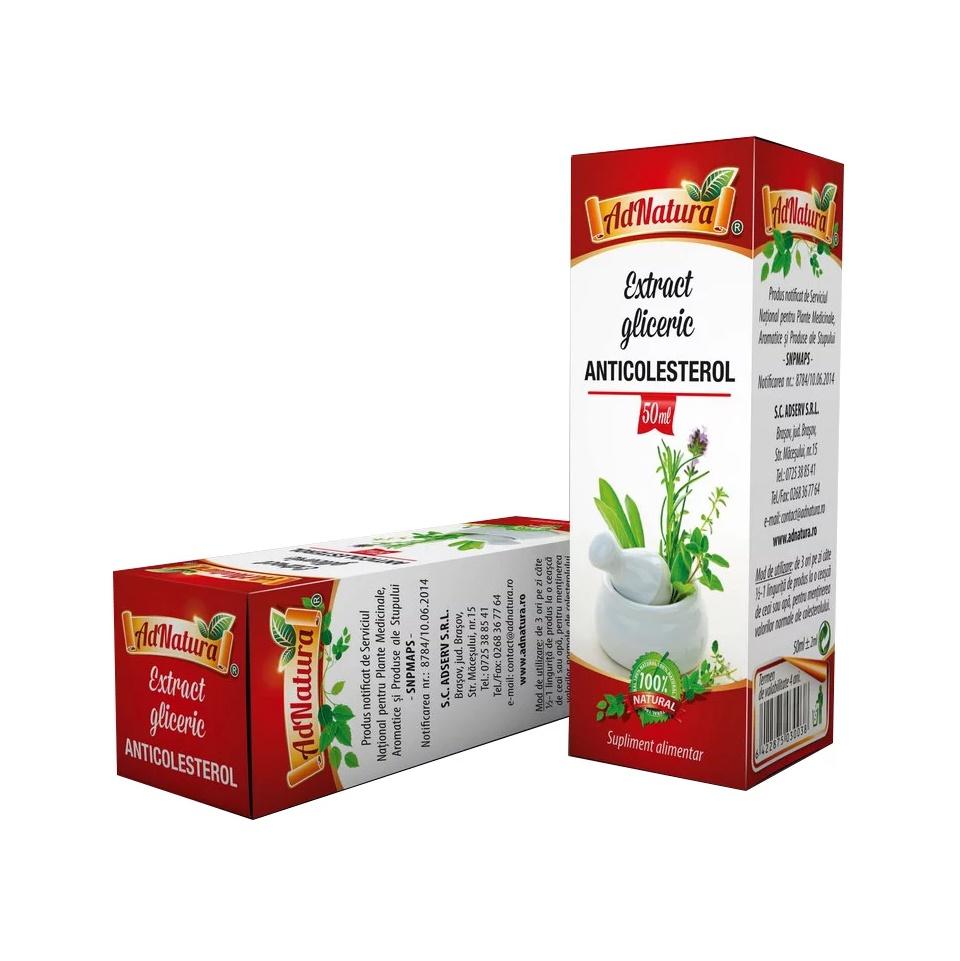 Anticolesterol extract gliceric, 50 ml, AdNatura