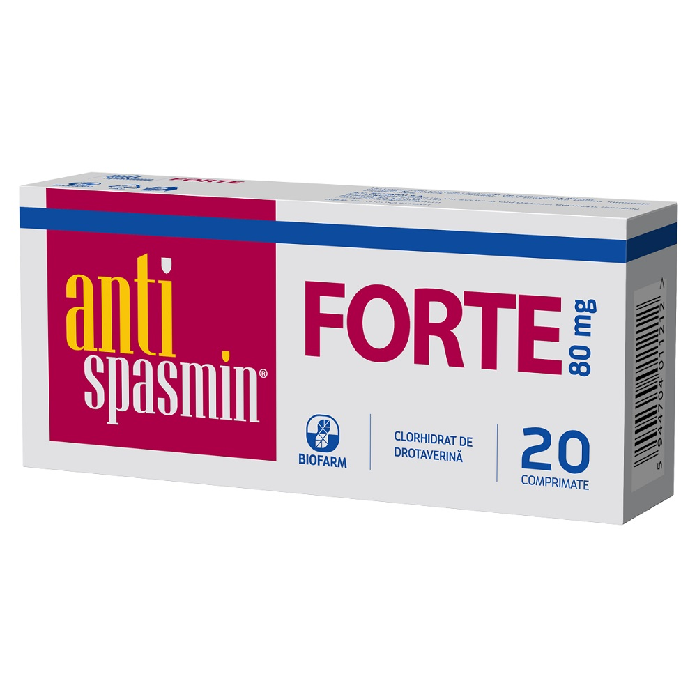 Antispasmin Forte, 20 comprimate, Biofarm