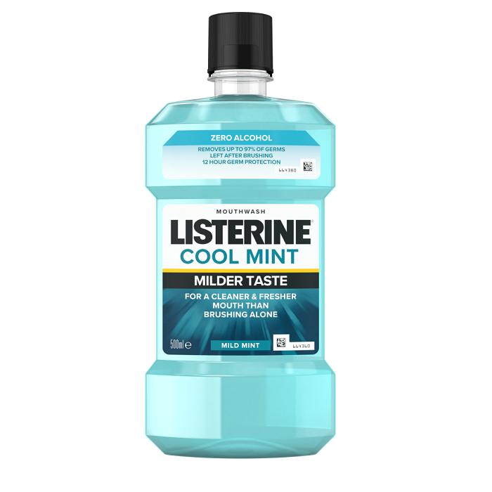Apă de gura Cool Mint Listerine Zero, 500 ml, Johnson & Johnson