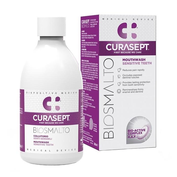 Apa de gura senzitive Biosmalto, 300 ml, Curasept