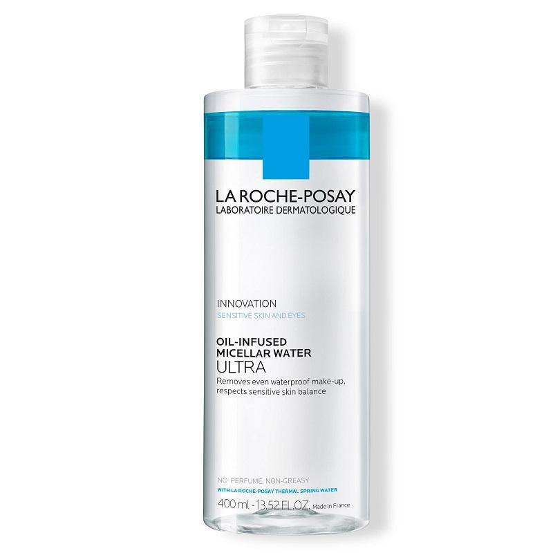 Apa micelara bifazica pentru piele si ochi sensibili Ultra, 400 ml, La Roche-Posay