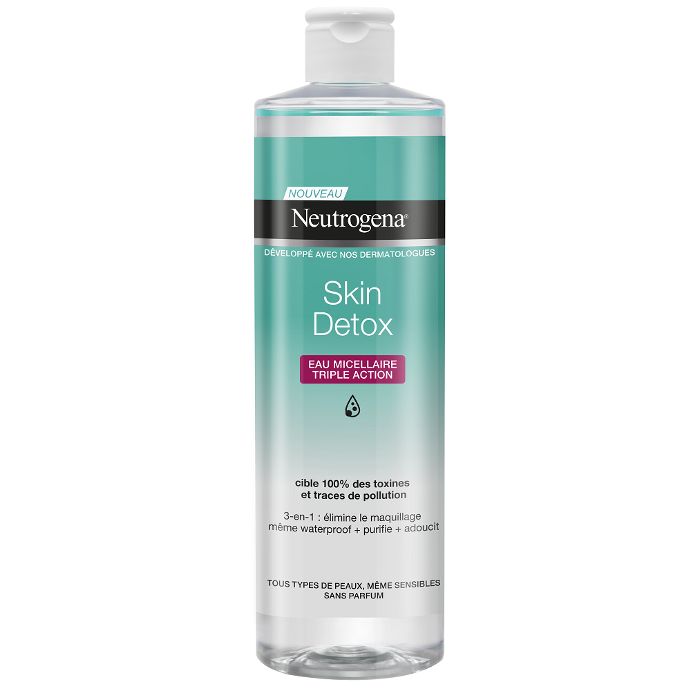 Apă micelară cu triplă acțiune Skin Detox, 400 ml, Neutrogena