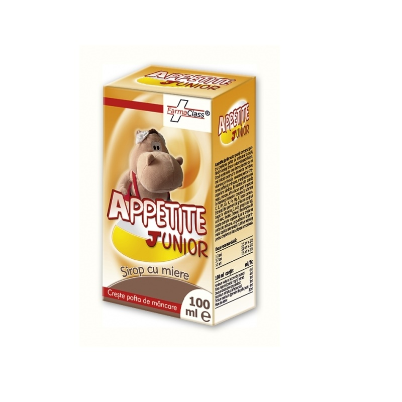 Appetite Junior sirop cu miere , 100 ml, FarmaClass