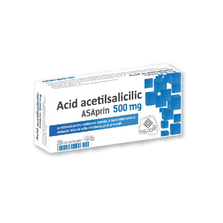 Asaprin 500 mg, 20 comprimate, Helcor