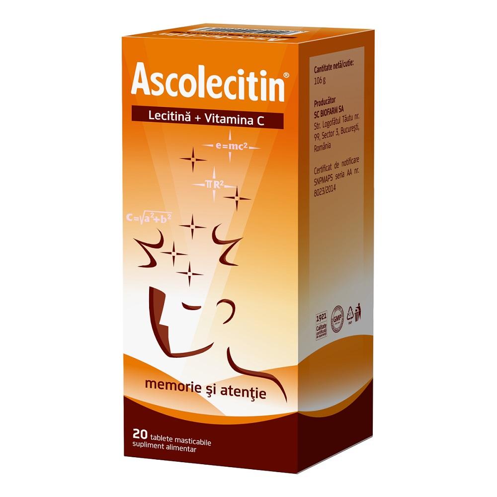 Ascolecitin, 20 comprimate, Biofarm