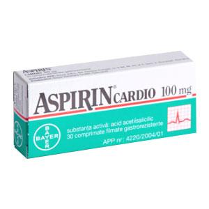 Aspirin Cardio 100mg, 30 comprimate, Bayer
