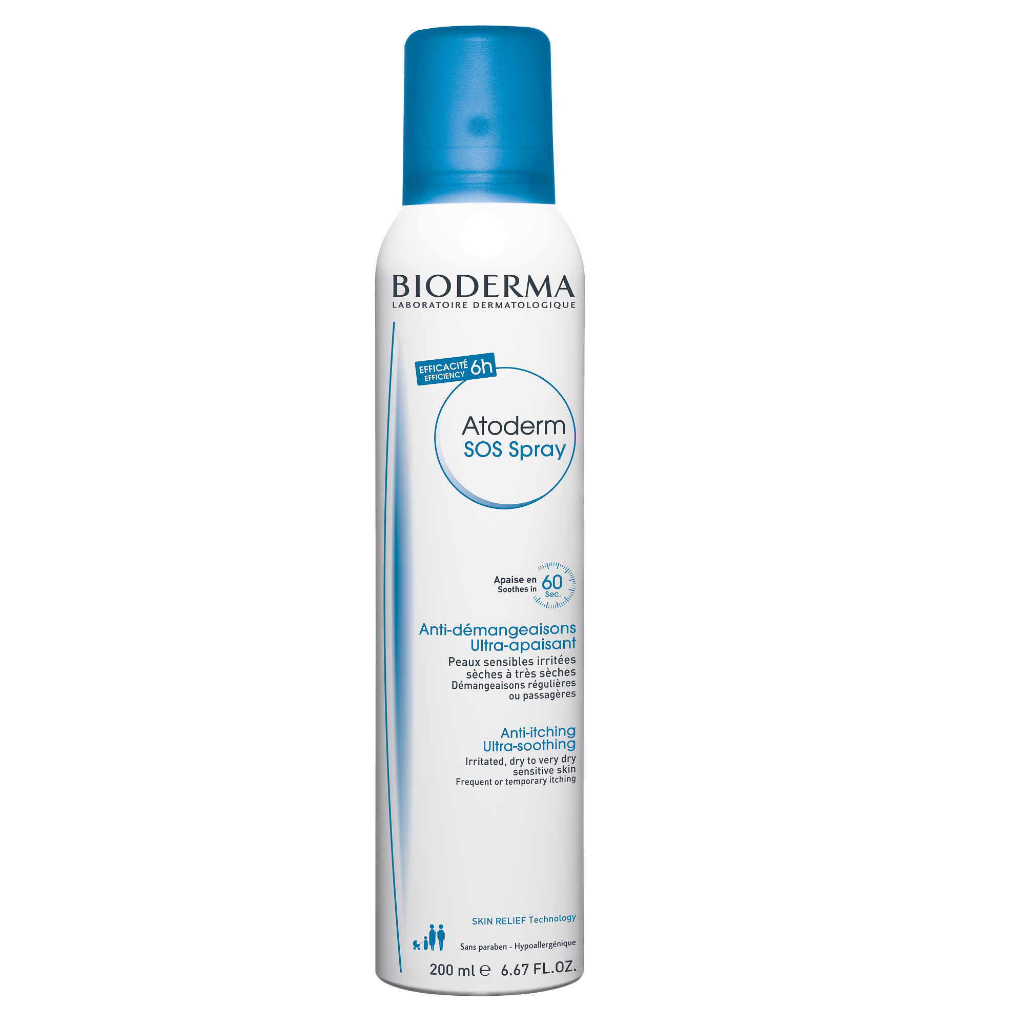Spray anti-prurit cu efect calmant imediat Atoderm SOS, 200 ml, Bioderma