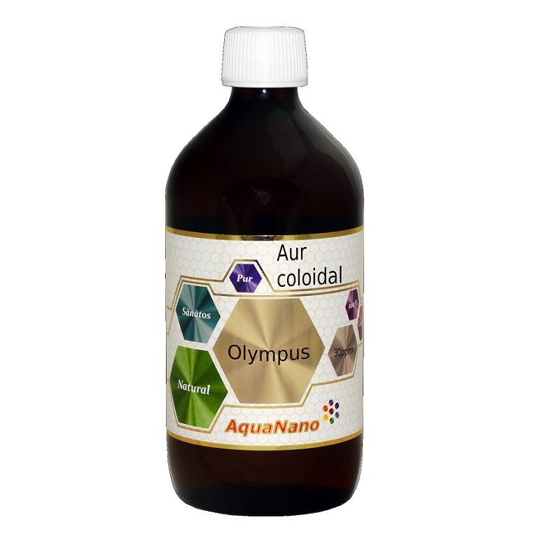 Aur coloidal 30ppm AquaNano Olimpus, 480 ml, Sc Aghoras Ivent