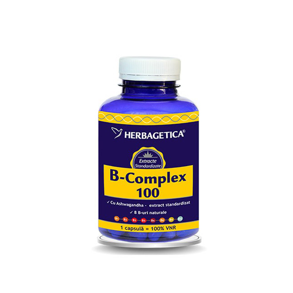 B-Complex 100, 120 cpasule, Herbagetica