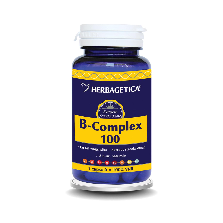 B-Complex 100, 60 cpasule, Herbagetica