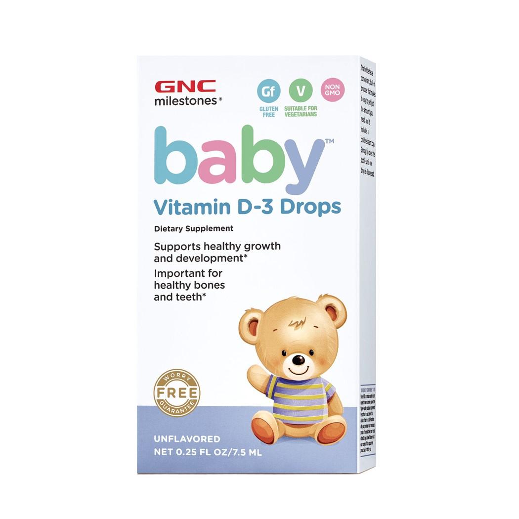 Baby Vitamina D3 Picaturi (424683), 7.5 ml, GNC