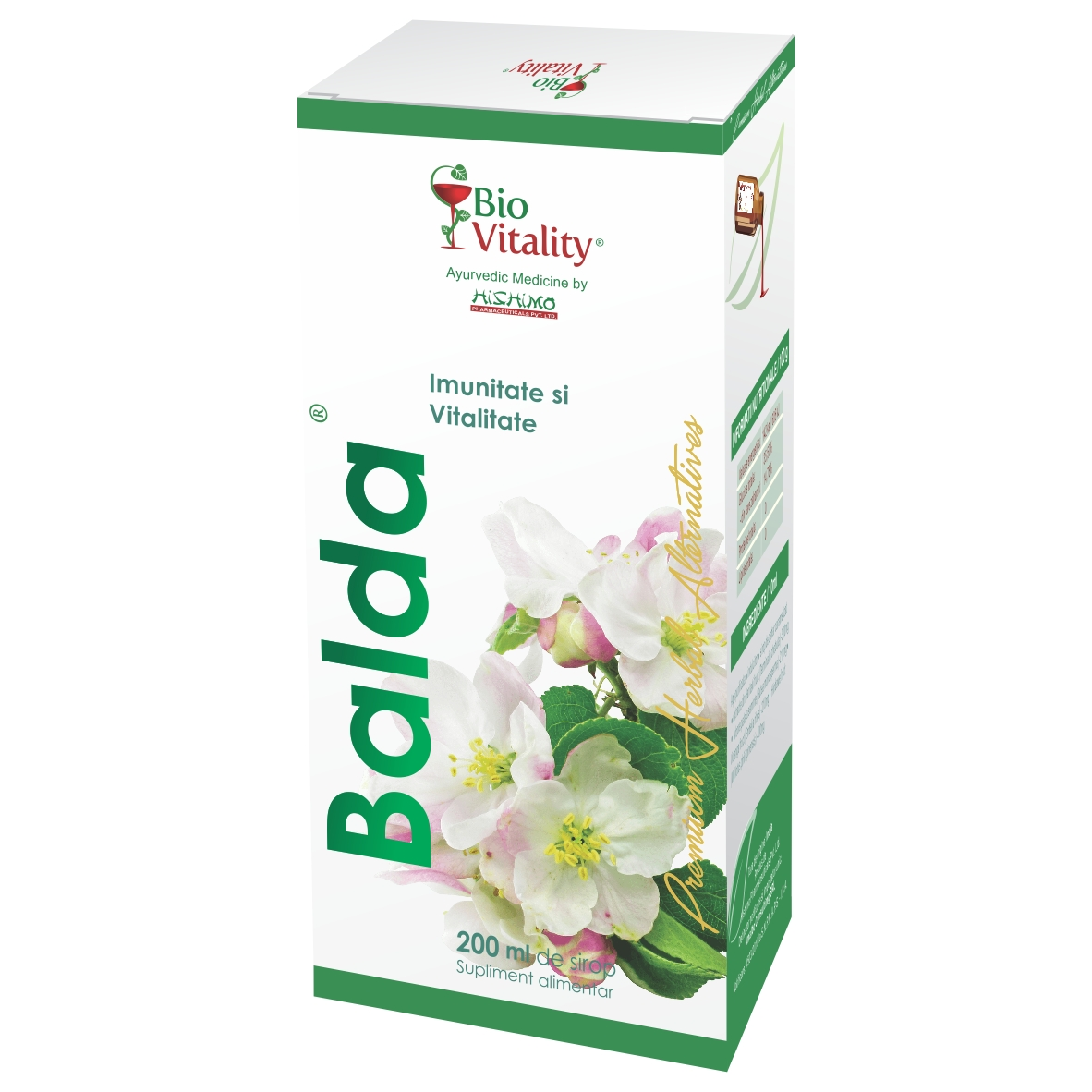 Balda Sirop, 200 ml, Bio Vitality