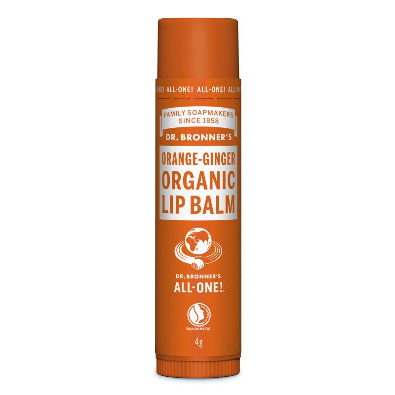 Balsam de buze cu portocala si ghimbir Organic, 4 g, Dr. Bronner's