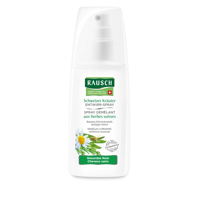 Balsam spray pentru descurcarea parului cu ierburi elvetiene, 100 ml, Rausch