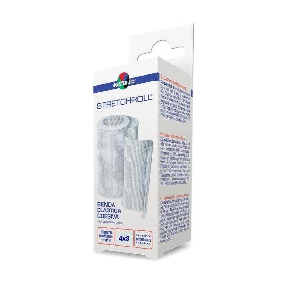 Bandaj elastic autoadeziv Stretchroll, 4mx8cm, Pietrasanta Pharma