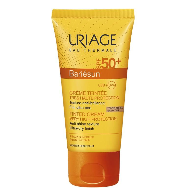 Cremă colorată protecție solară SPF 50+ Bariesun, nuanță Gold, 50 ml, Uriage