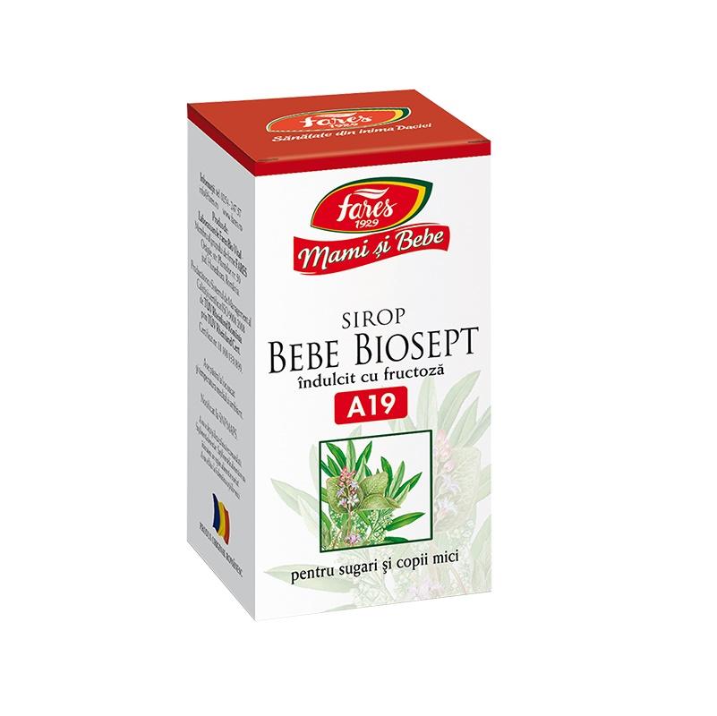Bebe Biosept sirop Mami și Bebe, A19, 100 ml, Fares