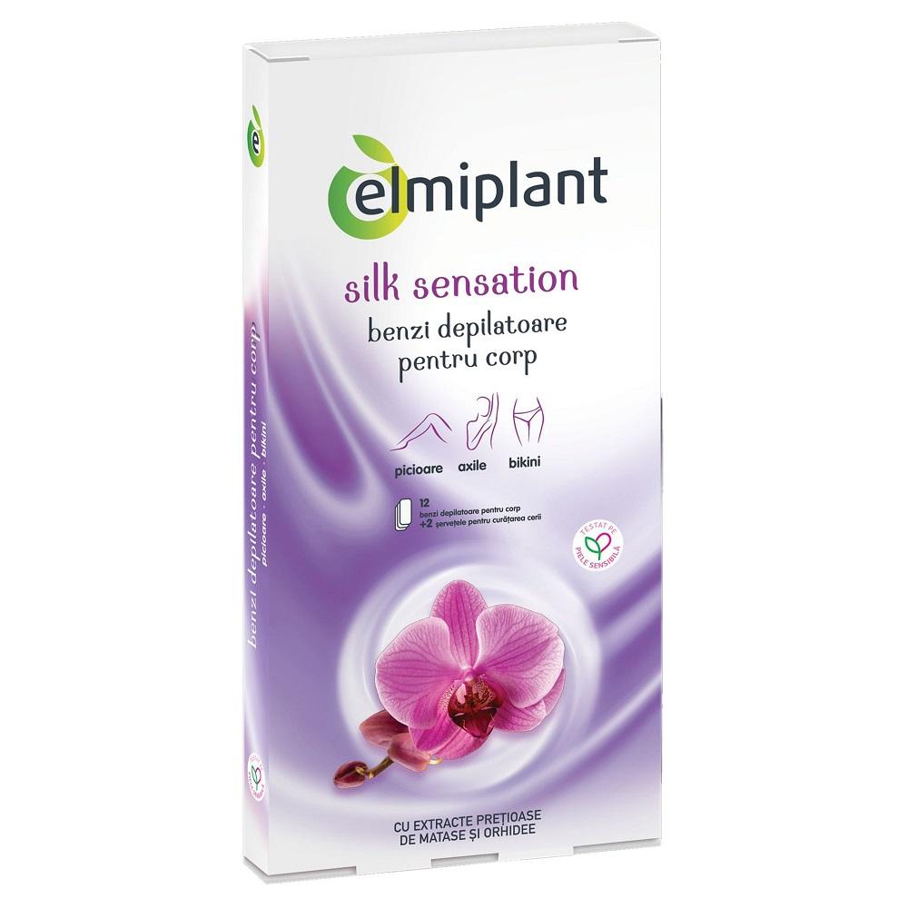 Benzi depilatoare pentru corp Silk Sensation, 12 bucati, Elmiplant