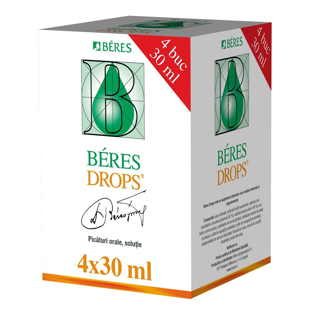 Beres Drops, 4 flacoane, 30 ml, Beres Pharmaceuticals Co
