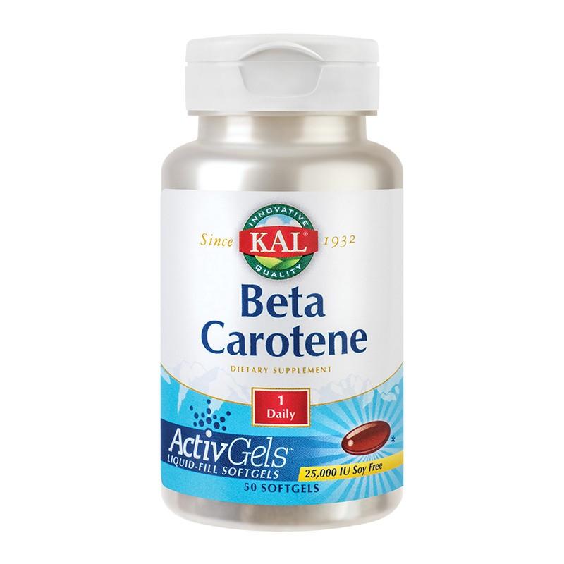 Beta Caroten 25.000UI Kal, 50 capsule, Secom