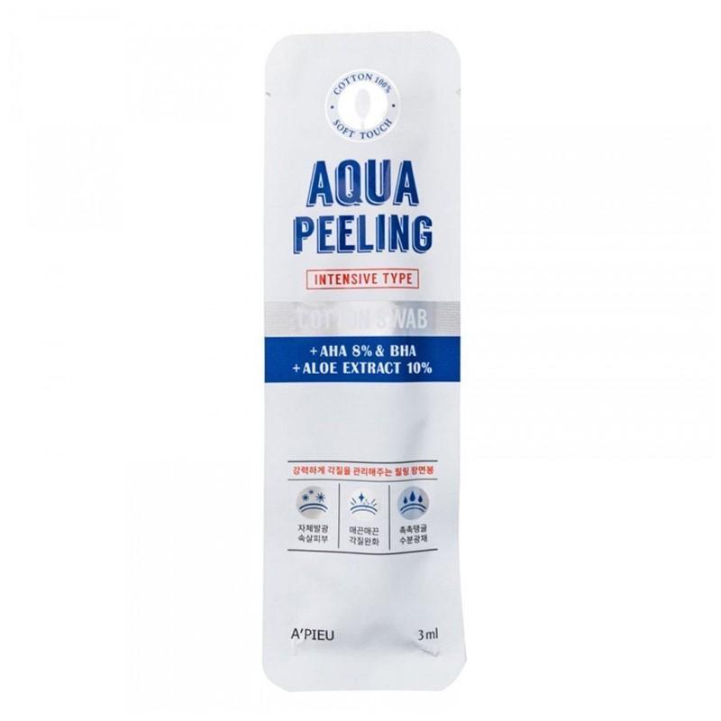 Bețișor din bumbac pentru peeling cu 8% AHA, 3ml, Apieu