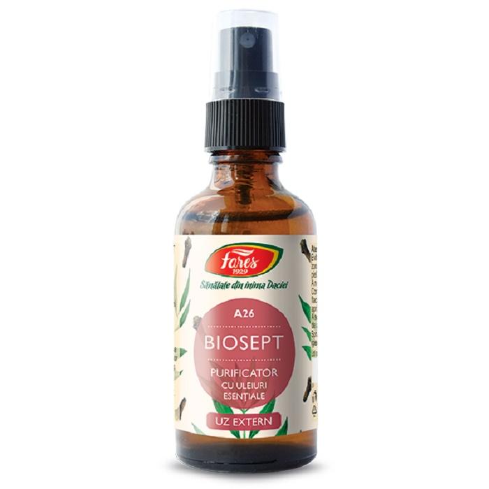 Biosept spray Purificator (A26), 50 ml, Fares