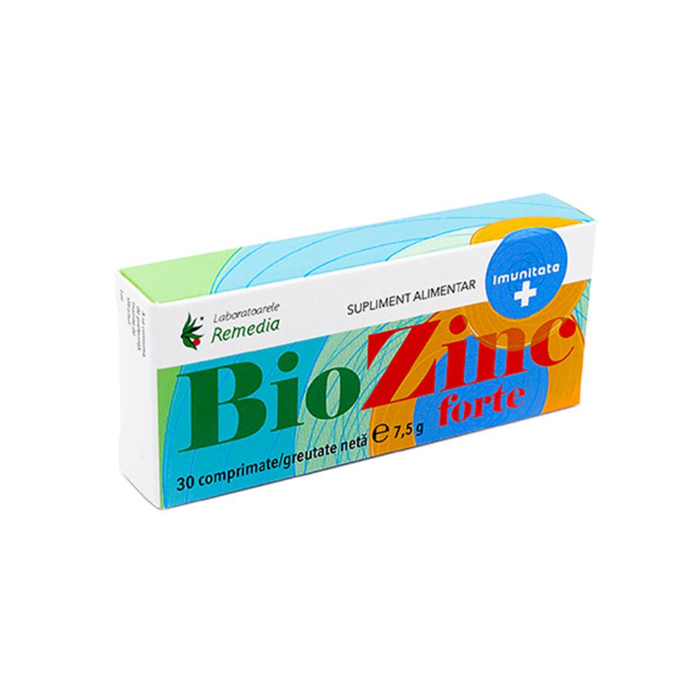 BioZinc Forte, 30 comprimate, Remedia