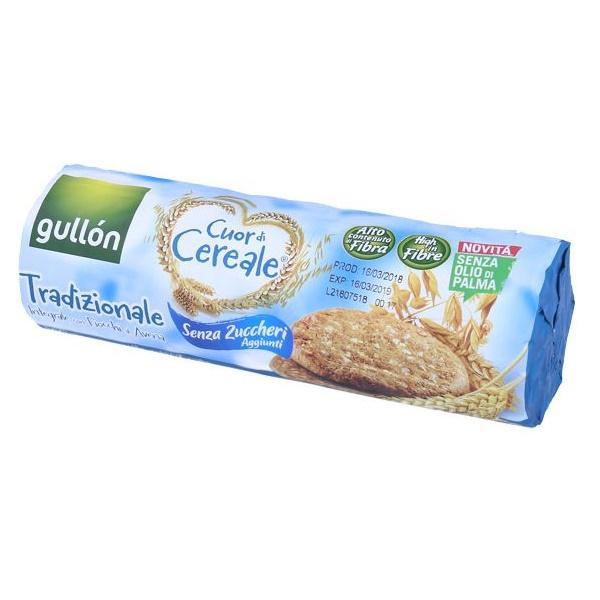 Biscuiti bogati in fibre fara zahar din faina integrala de cereale, 280g, Gullon