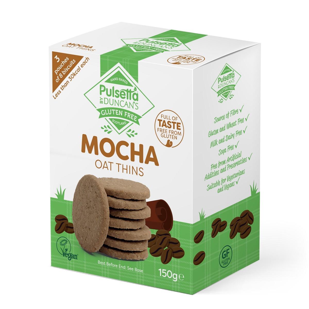 Biscuiți vegani fără gluten din ovăz cu cafea Pulsetta, 150 g, Activ Pharma Star