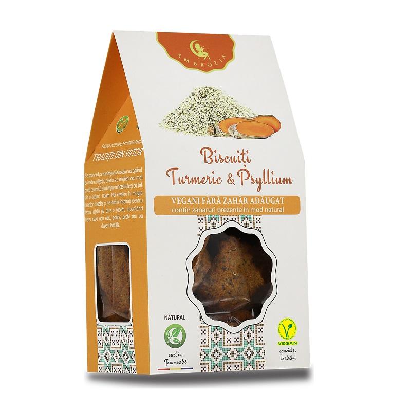 Biscuiți cu turmeric și psyllium, 150 g, Hiper Ambrozia