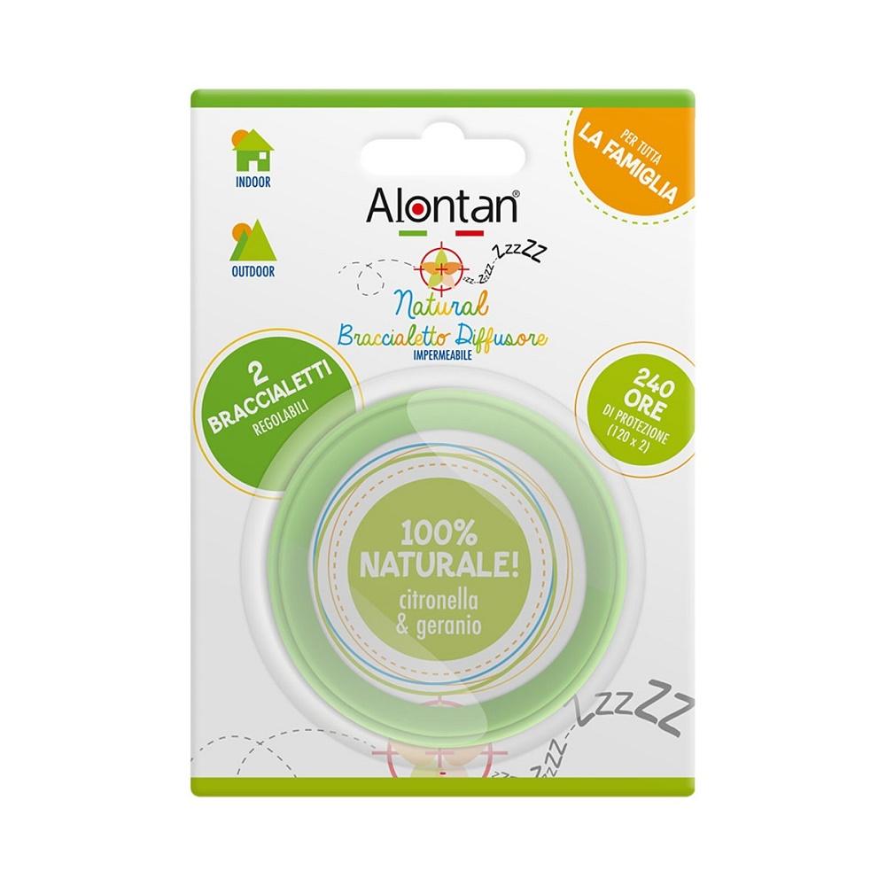 Bratara reglabila anti-insecte, Alontan Natural, 2 bucati, Pietrasanta Pharma