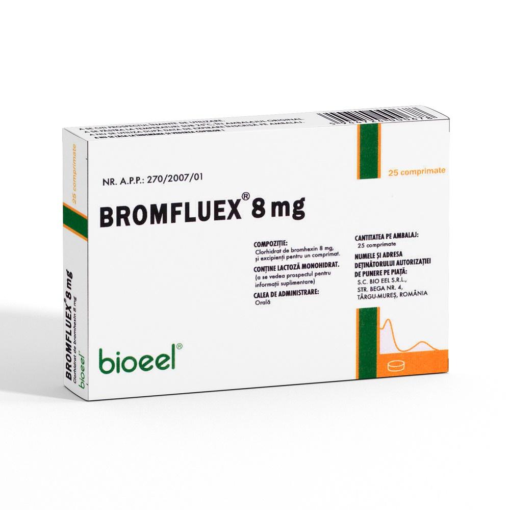 Bromfluex 8 mg, 25 comprimate, Bioeel